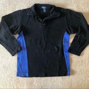 Black Quarter Zip Pull Over Jacket Sweatshirt